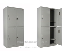 4 Door Gym Use Steel Storage Wardrobe Cupboard