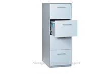Four Drawer Home Office Steel Document Lockable File Cabinet