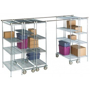 High Density Overhead Track Shelving Storage System