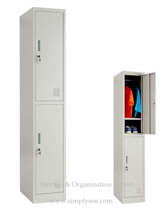 Two Door Contemporary School Metal Wardrobe