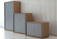 Tambour Door Steel Storage Cupboard with Transluent Shutter Available