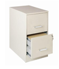 2 Drawer Under Desk Metal File Pedestal Cabinet