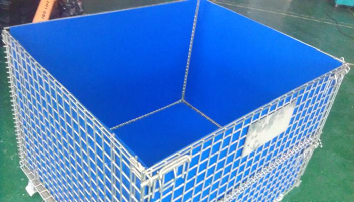 Custom Collapsible Wire Container With PP Liner For Fishing Industry