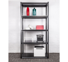 5 Layers Boltless Metal Shelving Rack Black