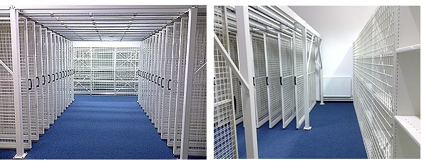 Pull Out Picture Artwork & Gallery Mesh Panel Storage Racking